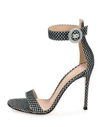 Gianvito Rossi - Metallic Marilyn Glitter D'Orsay Sandals - Lyst