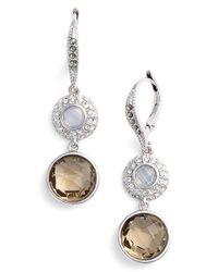Judith Jack - Metallic Double Stone Drop Earrings - Lyst