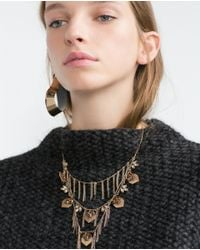 Zara | Metallic Chain Necklace | Lyst