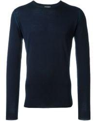 John Smedley - Blue 'richie' Sweater for Men - Lyst