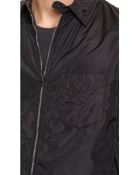 Rag & Bone - Black Daltry Shirt Jacket for Men - Lyst