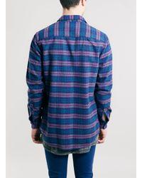 TOPMAN | Pink Check Long Sleeve Shirt for Men | Lyst