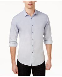 INC International Concepts - Blue Men's Long Sleeve Freddie Shirt, Only At Macy's for Men - Lyst