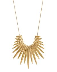 Michael Kors - Metallic Golden Tribal Pendant Necklace - Lyst