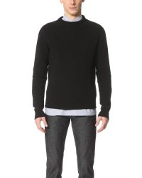 Our Legacy - Black Base Roundneck Sweater for Men - Lyst