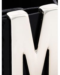 Moschino   Black Logo Plaque Cuff   Lyst
