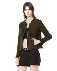 Alexander Wang   Black Burlap Zip-Up Jacket   Lyst