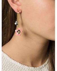 Fendi - Pink 'Blossom' Earrings - Lyst