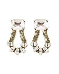 Loren Hope | Metallic Clara Earrings Crystal | Lyst