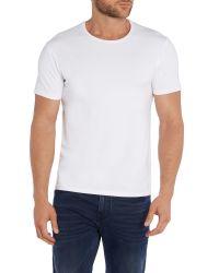 SELECTED - White Plain T-shirt for Men - Lyst