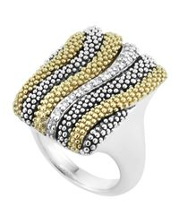 Lagos - Metallic Soiree Caviar Wave Diamond Ring - Lyst