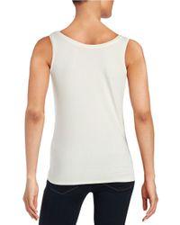 Calvin Klein | White Roundneck Knit Tank | Lyst