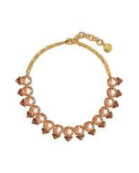 Vince Camuto | Metallic Champagne Crystal Necklace | Lyst