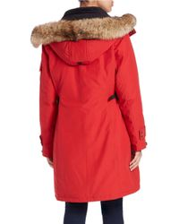 Pendleton | Red Convertible Coyote Fur-trimmed Parka | Lyst