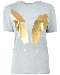 McQ - Gray Mcq Bunny Ears Print T-shirt - Lyst