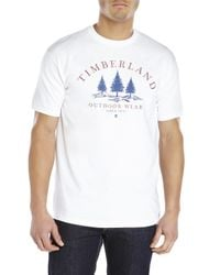 Timberland | White Three Tree Graphic Tee for Men | Lyst