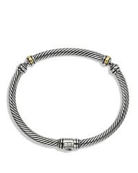 David Yurman - Metallic Metro Cable Bracelet With Gold - Lyst
