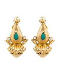 Kastur Jewels | Yellow Heritage Dome Earrings | Lyst