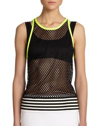 Monreal London | Black Mesh Tank | Lyst