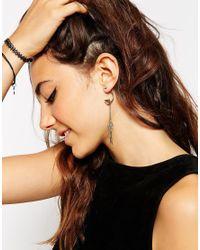 ASOS - Blue Mini Dreamcatcher Swing Earrings - Lyst