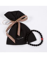 Paul Smith | Black Beaded Bracelet for Men | Lyst