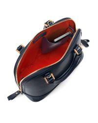 Aspinal - Blue Mini Hepburn Leather Bowling Handbag - Lyst