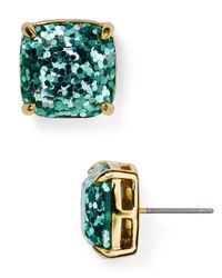 kate spade new york | Metallic Gold-tone Small Square Stud Earrings | Lyst