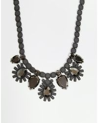 Girls On Film - Gray Tiered Floral Burst Necklace - Lyst