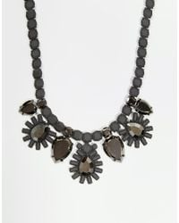 Girls On Film | Metallic Tiered Floral Burst Necklace | Lyst