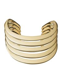 Michael Kors | Metallic Golden Open Statement Cuff | Lyst