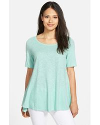 Eileen Fisher - Blue Hemp & Organic Cotton Top - Lyst