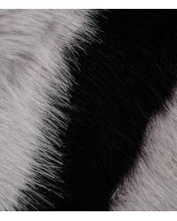 Reiss - Black Filipa Faux Fur Scarf - Lyst
