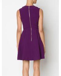 Elie Saab - Purple Embellished Flared Dress - Lyst