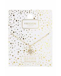 TOPSHOP - Metallic Gold Plated Star Ditsy Necklace - Lyst