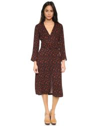 A.L.C. | Red Paley Dress | Lyst