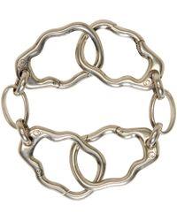 Alexander McQueen | Metallic Silver Skull Link Bracelet for Men | Lyst