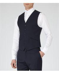 Reiss - Blue Martino W Textured Waistcoat for Men - Lyst