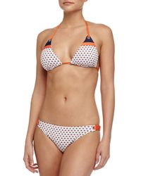 Splendid - Multicolor Geo-dot Triangle Swim Top - Lyst