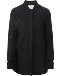 Amen - Black Cotton-Blend Zip Jacket - Lyst