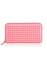 Christian Louboutin - Pink Panettone Spikes Wallet - Lyst