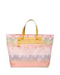 Missoni - Pink Knit Beach Bag - Lyst
