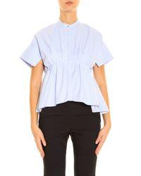 Victoria, Victoria Beckham - Blue Oxford Shirt - Lyst