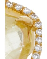 Jordan Alexander - Metallic Mo Exclusive: One Of A Kind 18k Gold Beryl And Pearl Slice Ring - Lyst