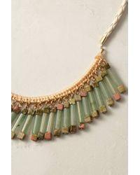 Anthropologie | Green Jade Fringe Necklace | Lyst