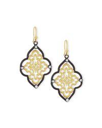 Armenta | Metallic Old World Scroll Earrings With Diamonds | Lyst