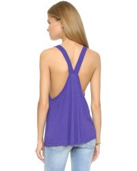 Free People - Purple Pocket Tank - Sage - Lyst