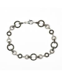 Judith Jack | Metallic Marcasite And Crystal Circle Bracelet | Lyst