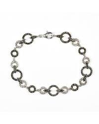 Judith Jack - Metallic Marcasite And Crystal Circle Bracelet - Lyst