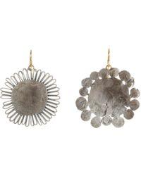 Judy Geib - Metallic Women's Silver Flowery Earrings - Lyst