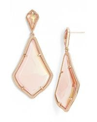 Kendra Scott | Pink Alexis Iridescent Glass Earrings | Lyst
